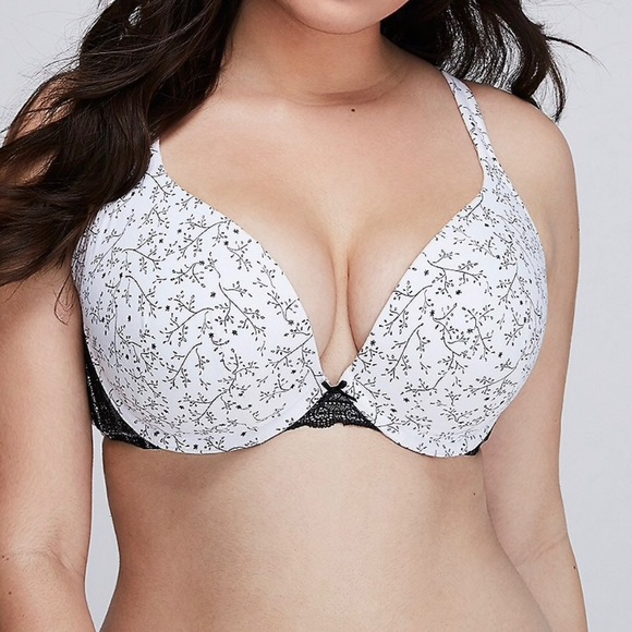 340151063fbc2 Lane Bryant Other - Cacique Push Up Plunge Bra 42h